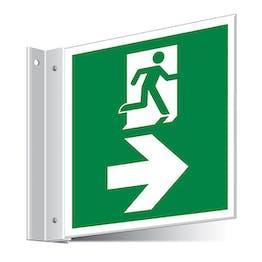 Fire Exit Right/Left Corridor Sign