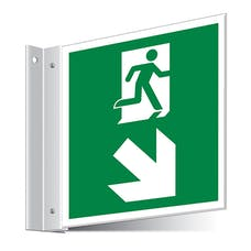 Fire Exit Down Right/Left Corridor Sign