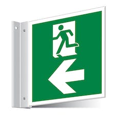 Fire Exit Left/Right Corridor Sign