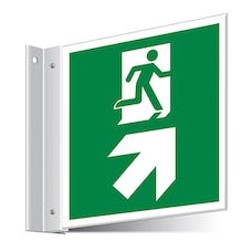 Fire Exit Up Right/Left Corridor Sign