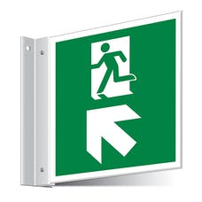 Fire Exit Up Left/Right Corridor Sign