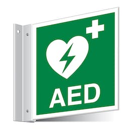 AED First Aid Corridor Sign