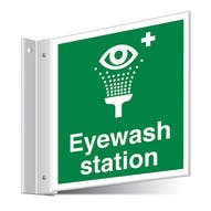 Eyewash Station Corridor Sign