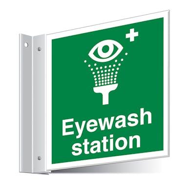 Eyewash Station Corridor Sign