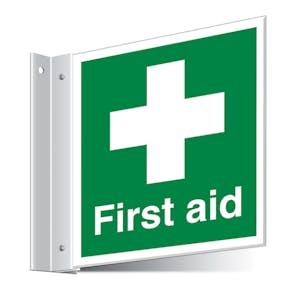 First Aid Cross Corridor Sign