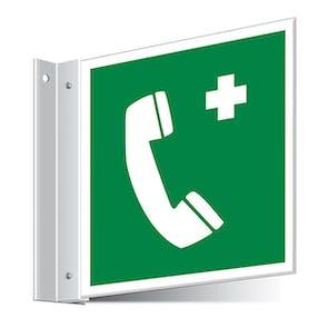 Emergency Telephone Corridor Sign