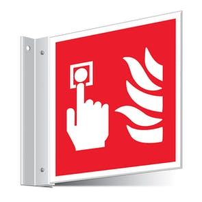 Fire Alarm Call Point Corridor Sign
