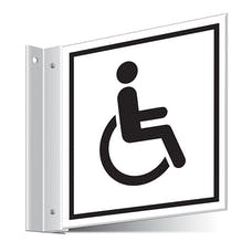 Disabled Toilets Corridor Sign