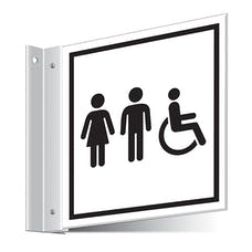 Unisex/Disabled Toilets Corridor Sign