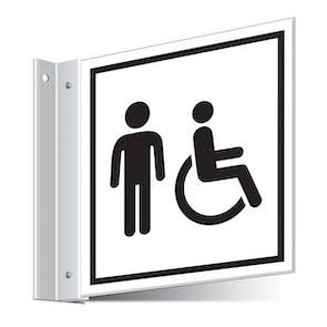 Gents Disabled Toilets Corridor Sign