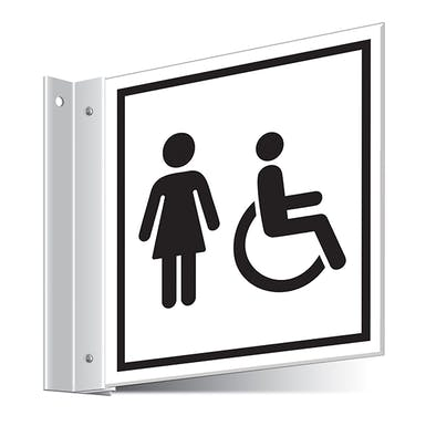 Female Disabled Toilets Corridor Sign
