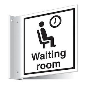 Waiting Room Corridor Sign