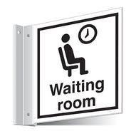 Waiting Room Corridor Sign