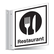 Restaurant Corridor Sign