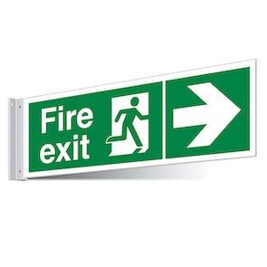 Fire Exit Right/Left Corridor Sign - Landscape