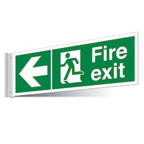 Fire Exit Left/Right Corridor Sign - Landscape