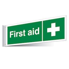 First Aid Cross Corridor Sign - Landscape