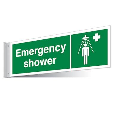 Emergency Shower Corridor Sign