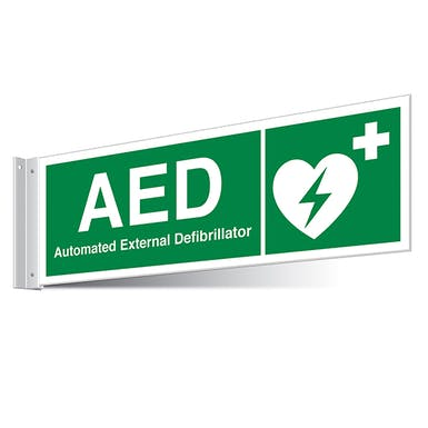 AED First Aid Corridor Sign - Landscape