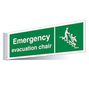 Emergency Evacuation Chair Corridor Sign