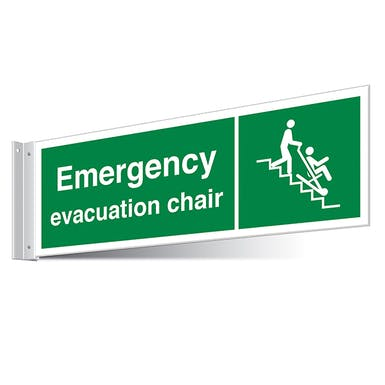 Emergency Evacuation Chair Corridor Sign
