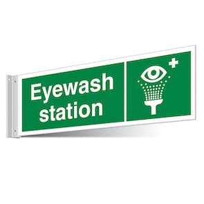 Eyewash Station Corridor Sign - Landscape