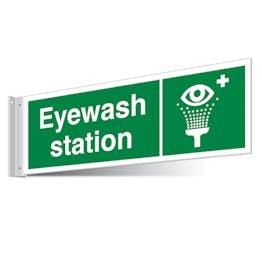 Eyewash Station Corridor Sign - Landscape