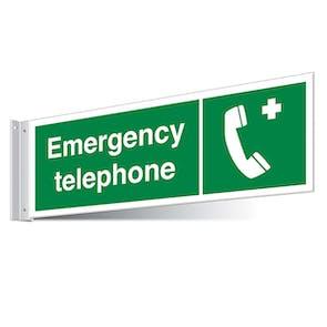 Emergency Telephone Corridor Sign - Landscape