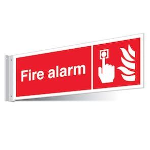 Fire Alarm Call Point Corridor Sign - Landscape