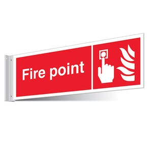 Fire Point Corridor Sign - Landscape