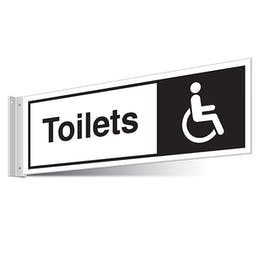 Disabled Toilets Corridor Sign - Landscape