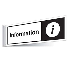 Information Point Corridor Sign - Landscape