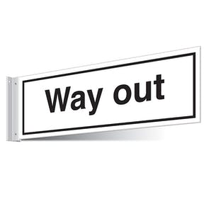 Way Out Corridor Sign