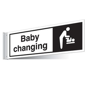 Baby Changing Facilities Corridor Sign - Landscape