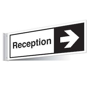 Reception Right/Left Corridor Sign