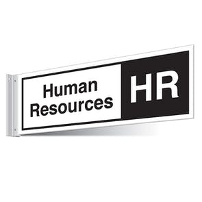 Human Resources Corridor Sign