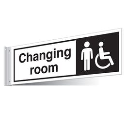 Gents/Disabled Changing Room Corridor Sign