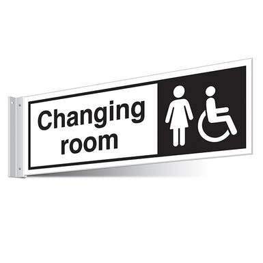 Female/Disabled Changing Room Corridor Sign