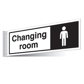 Gents Changing Room Corridor Sign
