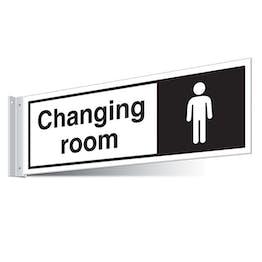 Gents Changing Room Corridor Sign
