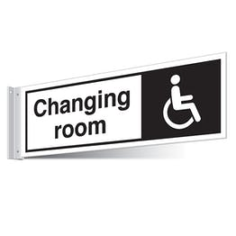 Disabled Changing Room Corridor Sign