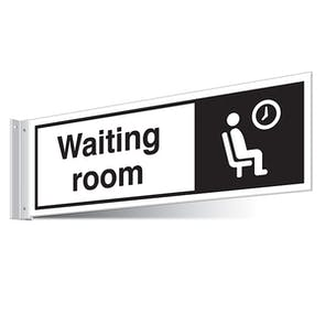 Waiting Room Corridor Sign - Landscape