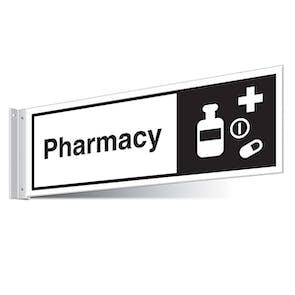 Pharmacy Corridor Sign - Landscape