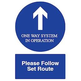 Direction Arrow - One Way - Please Follow