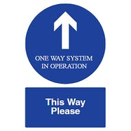 Direction Arrow - One Way - This Way