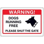 Dogs Running Free, Please Shut The Gate