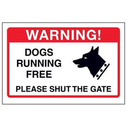 Dogs Running Free, Please Shut The Gate