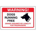 Dogs Running Free, Owner Assumes No Liabilty