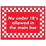 No Under 18's Allowed in The Main Bar