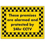 These Premises Are Alarmed and Protected by 24hr CCTV